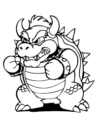 Small Picture Bowser Coloring Pages fablesfromthefriendscom