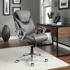 grey leather executive office chair. serta air health \u0026 wellness eco-friendly bonded leather executive office chair | hayneedle grey e