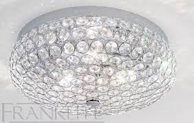 marquesa small crystal flush ceiling light franklite lighting