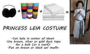 10 minute costumes princess leia