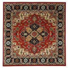 norman rust 8 ft x 8 ft square area rug
