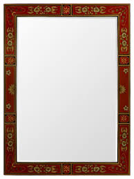 Small Picture Hand Painted Tibetan Design Mirror Asian Wall Mirrors by