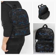 new authentic michael kors kent camouflage nylon backpack ocean