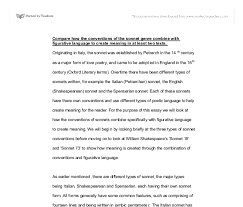 compare how the conventions of the sonnet a level english document image preview