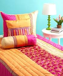 pink and orange bedding sets tangerine orange and fuchsia twin full quilt bedding set with 2