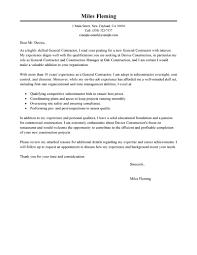 Effective Cover Letter Samples For Construction Jobs Eager World