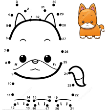 Small Picture Cute Baby Fox dot to dot Free Printable Coloring Pages