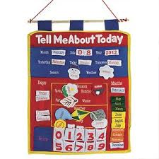 Fabric Days Of The Week Chart Tell Me About Today Wall Chart Soft Poly Cotton Wall