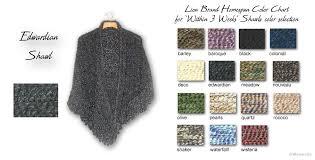 Lion Brand Homespun Yarn Color Chart Shawls 3 Weeks