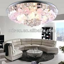 low ceiling chandelier ruby modern