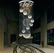 light spiral crystal chandelier pendant lighting various sizes fit modern sphere staircase raindrop led round