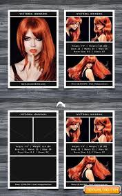 Model Comp Card Template Free Download Free Graphic