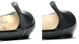 fix scuffed tan leather shoes membership image marketing offer shoe repair standard heel bottom