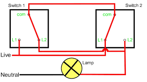 How To Wire A 2 Way Light Switch Two Way Lighting Circuit Uk Pogot Bietthunghiduong Co