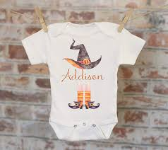 Design A Onesie Baby Shower Amazon Com Halloween Witch Personalized Onesie Funny