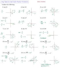Inverse Trig Function Worksheet - wiildcreative