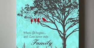 custom canvas wall art awesome personalized family tree home decor canvas wall art