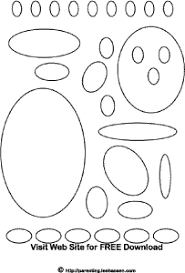 Small Picture Oval Shapes Coloring Page Activity Sheet
