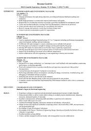 Hardware Engineering Manager Resume Samples Velvet Jobs