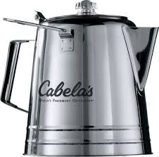 Coffee for a percolator should be a medium to coarse grind, if the grind is too fine, more of the grounds will find there way into your coffee. Cabela S Campfire Coffee Pot Cabela S