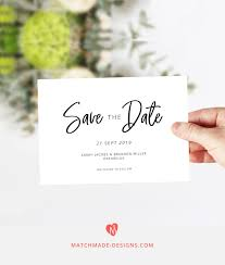 Modern Save The Date Template Printable Save Our Date Card Download Simple Save The Date Wedding Announcement Card Diy Save The Date Pdf