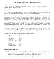 Vending Machine Program In C Best Programming Assignment 48 Vending Machine Purpose Chegg