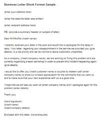 formal business letters templates formal business letter block format examples and forms