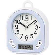 seiko clocks splash resistant thermometer bathroom alarm clock chronograph