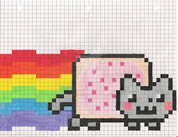 Nyan Cat On Graph Paper Zlatan Fontanacountryinn Com