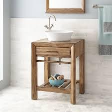 Distressed Bathroom Cabinet 24 Verlyn Vessel Sink Vanity Distressed Tan Bathroom