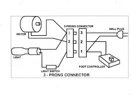 generic wiring diagram for the motor light power cord and generic wiring diagram for the motor light power cord and controller misc sewing machine info vintage antiques and the o jays