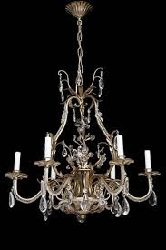 italian gold gilt crystal chandelier how