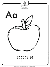 Alphabet Coloring Page A Is For Apple Alphabet Coloring Sheets A Z