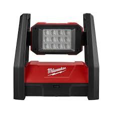 Milwaukee M18 Flood Light Home Depot Milwaukee M18 18 Volt Lithium Ion Cordless 3000 Lumen Rover Led Ac Dc Flood Light Tool Only