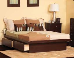 Solid Queen Size Platform Bed With Drawers Platform Beds Making