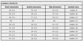 Devon Aire Size Charts