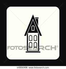 attic clipart black and white. Delighful Black Clip Art  Two Storey House With Attic Icon Simple Style Fotosearch  Search With Attic Clipart Black And White R