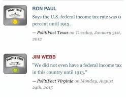 Half True Ron Paul Pol Says The Us Federal Income Tax Rate