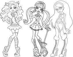 Monster High Coloring Pages Picture 9 monster high coloring pages picture 9 collection monster high on monster high worksheets