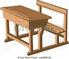 school chair drawing. Brilliant Chair Desk And Chair Unit  Csp5293154 And School Chair Drawing T