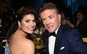 alan thicke wife. Beautiful Alan Tanya Callau And Alan Thicke Pictured In April 2015 To Wife K