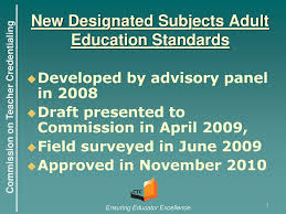 Designated Subjects Vocational Education Teaching Credential Adult Education Technical Assistance Ppt Download