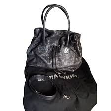 sonia rykiel new margot handbags leather grey ref 57139