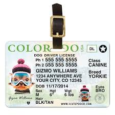 Tags Driver Colorado License 1 And Pooch Personalized Dog Wallet Pet Card Cute Id