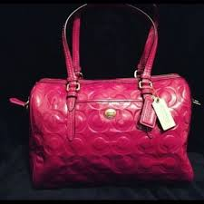 Authentic Coach Purse Pink Monogram Large