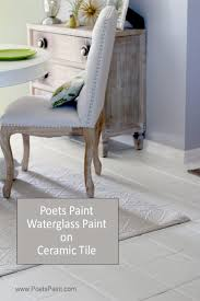 poets paint chalk painted tile floors