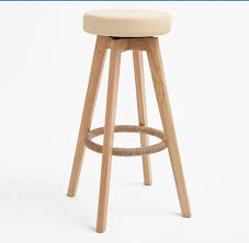backless swivel bar stools. Wooden Swivel Bar Stools Modern Natural Finish Round Leather Foam Seat Backless Indoor Commerical Furniture Chair 29 Inch-in From N