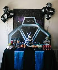 star wars birthday party food table and