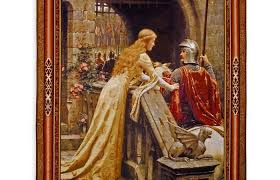 the sd painting meval tapestry wall hanging romantic leighton paintings john waterhouse the accolade painting