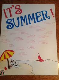 Kids Summer Goal Chart For The Refrigerator So That Kids